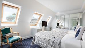 Frette Italian sheets, pillow top beds, minibar, in-room safe