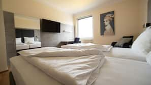 Hypo-allergenic bedding, in-room safe, individually decorated