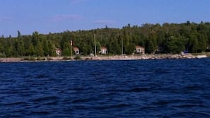 Private beach, kayaking, motor boating, rowing