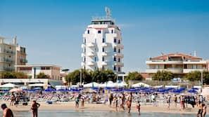 Spiaggia privata, teli da spiaggia