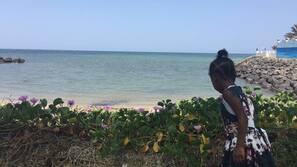 Privat strand i nærheten