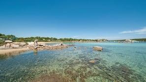 On the beach, white sand, scuba diving, windsurfing