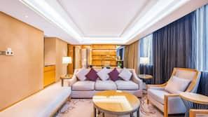 20 bedrooms, premium bedding, free minibar items, in-room safe