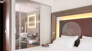 1 dormitorio y ropa de cama de alta calidad