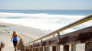 靠近海滩、免费海滩班车、沙滩椅、海滩遮阳伞