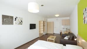 Pillowtop-Betten, Schreibtisch, kostenloses WLAN, Bettwäsche