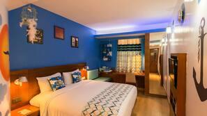 Memory foam beds, minibar, in-room safe, desk