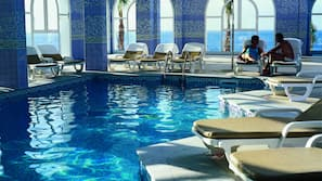 Indoor pool, 2 outdoor pools, pool umbrellas, pool loungers