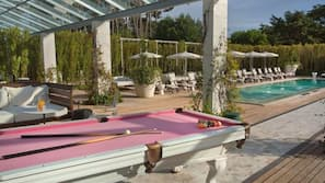 Indoor pool, 2 outdoor pools, open 8:30 AM to 10 PM, free pool cabanas