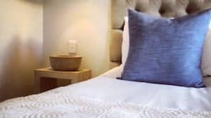 Premium bedding, pillowtop beds, free minibar items