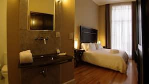 Down duvet, pillow top beds, minibar, in-room safe