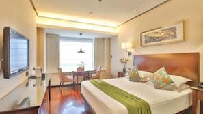 Premium bedding, down duvets, pillow-top beds, minibar