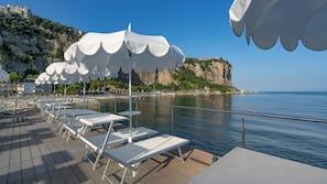 Private beach nearby, free beach cabanas, beach shuttle, sun-loungers