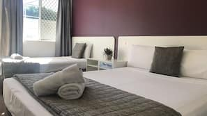 Blackout curtains, iron/ironing board, cots/infant beds, free WiFi