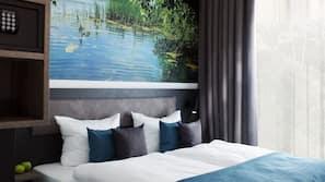 Hochwertige Bettwaren, Zimmersafe, kostenloses WLAN, Bettwäsche