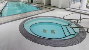 Indoor pool, a heated pool