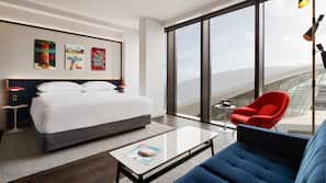 Premium bedding, down comforters, in-room safe, desk