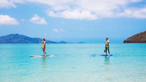 Beach towels, snorkelling, surfing, sailing