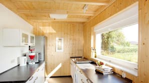 Kühlschrank, Mikrowelle, Herdplatte, Geschirrspüler