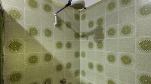 Shower, towels, soap