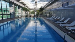 Indoor pool, outdoor pool, open 7:00 AM to midnight, cabanas (surcharge)