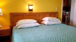 Hypo-allergenic bedding, memory foam beds, in-room safe