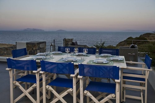 Naxos Beachfront House With Breathtaking sea View and Private Beach!