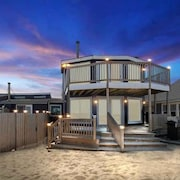 Plum Island Beachfront Home With Panoramic Ocean Views, Private Beach Area