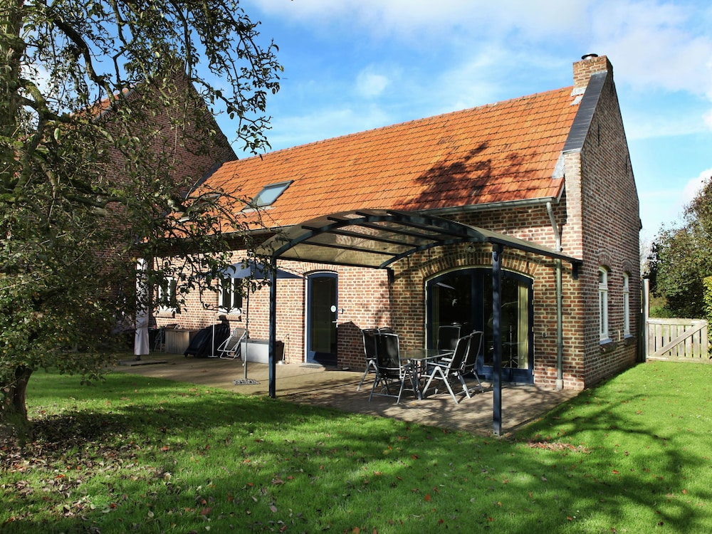 Exterior, Pretty Farmhouse in Sint Odilienberg With Fenced Garden