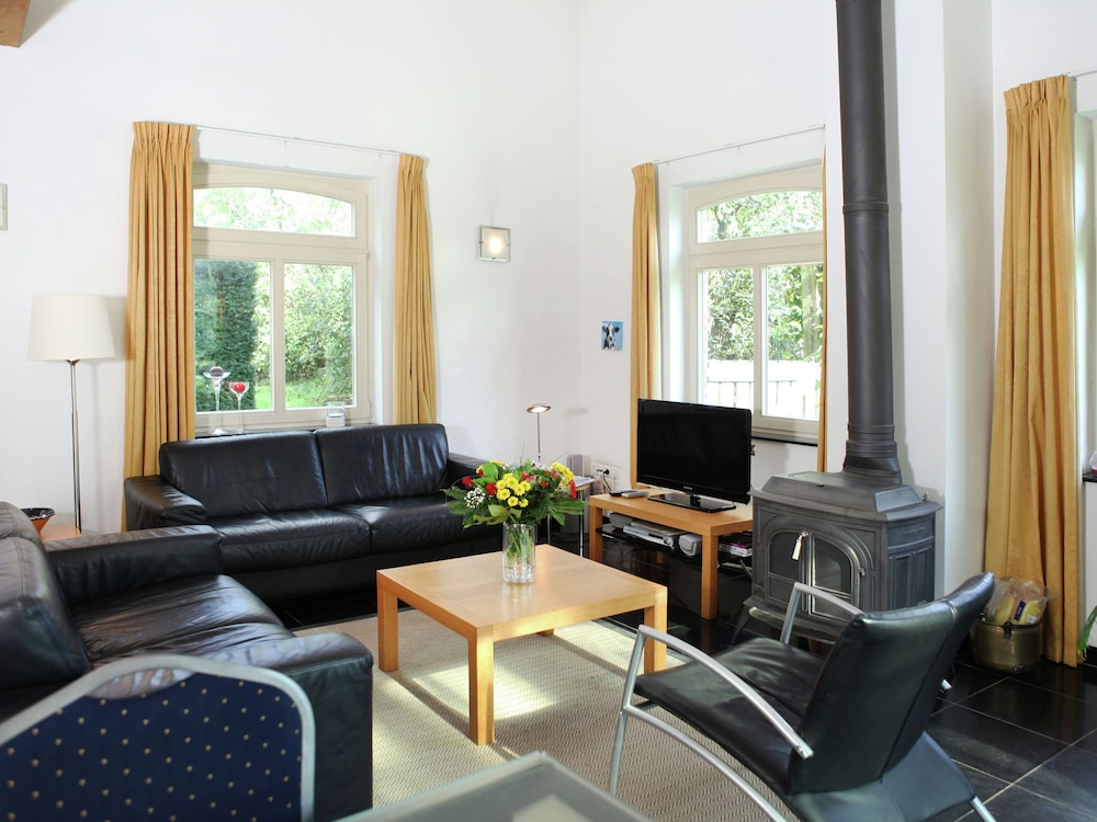 Living Room, Pretty Farmhouse in Sint Odilienberg With Fenced Garden