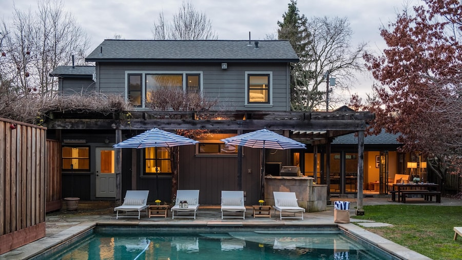 Cypress - Warm & Modern Home in Santa Rosa w Pool & Games