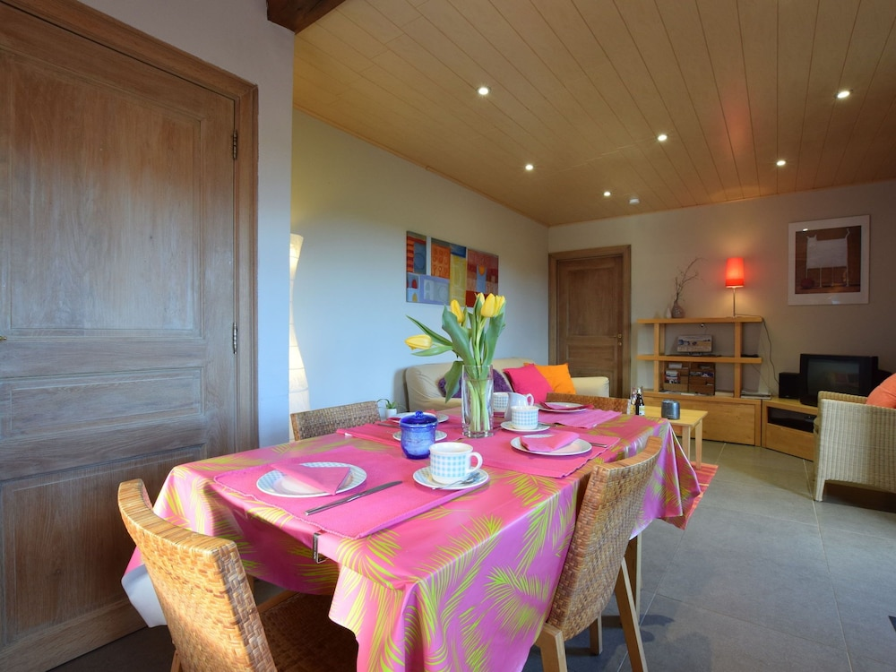 Dining, Peaceful Cottage in Ardennes With Private Terrace