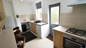 Fridge, oven, electric kettle