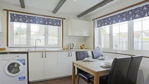 Fridge, microwave, oven