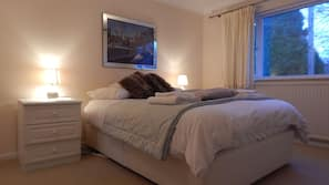 Select Comfort beds, iron/ironing board, free WiFi, linens