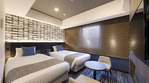 Premium bedding, down comforters, desk, iron/ironing board