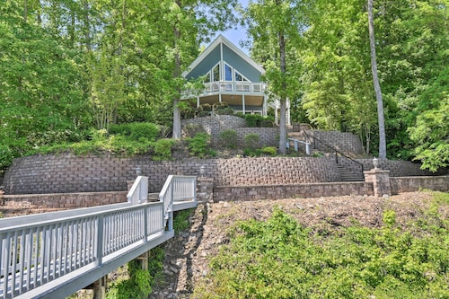 Bracey Home on Lake Gaston: Furnished 2-story Dock