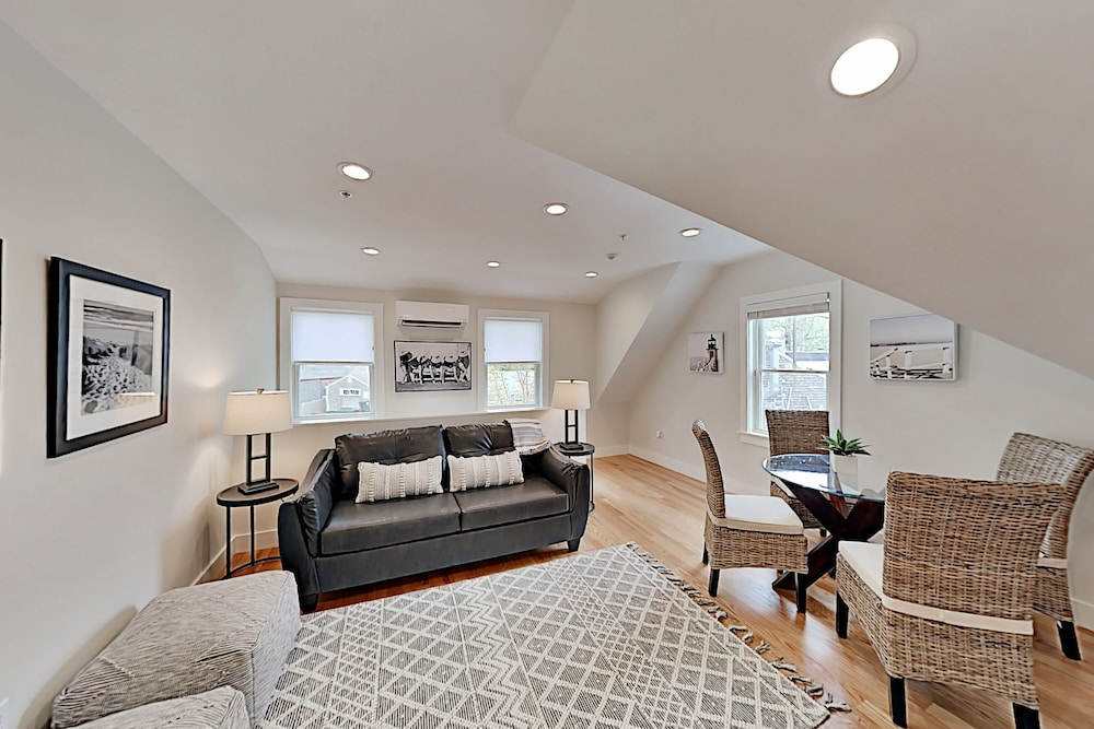 Living Room, New Lavish Condo in Heart of Downtown Chatham - Walk to Dining, Shops & Beach