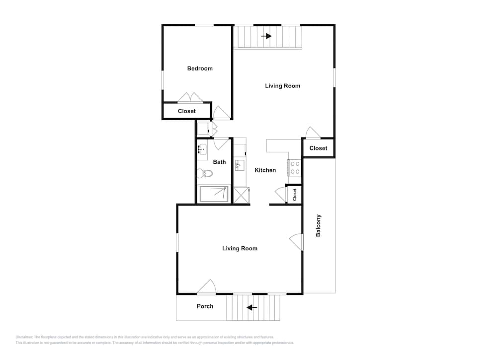 Floor plan, New Lavish Condo in Heart of Downtown Chatham - Walk to Dining, Shops & Beach