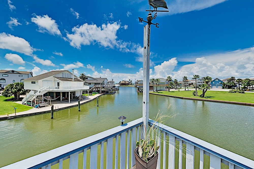 Exterior, Waterfront Island Tiki House With Boat Slip & Deck! - 3 Bedroom Home