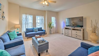 NEW! Modern Coastal Condo w/Patio: 1 Mi to Beaches