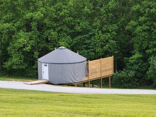 The Hummingbird is a Stylish 20ft Yurt House!