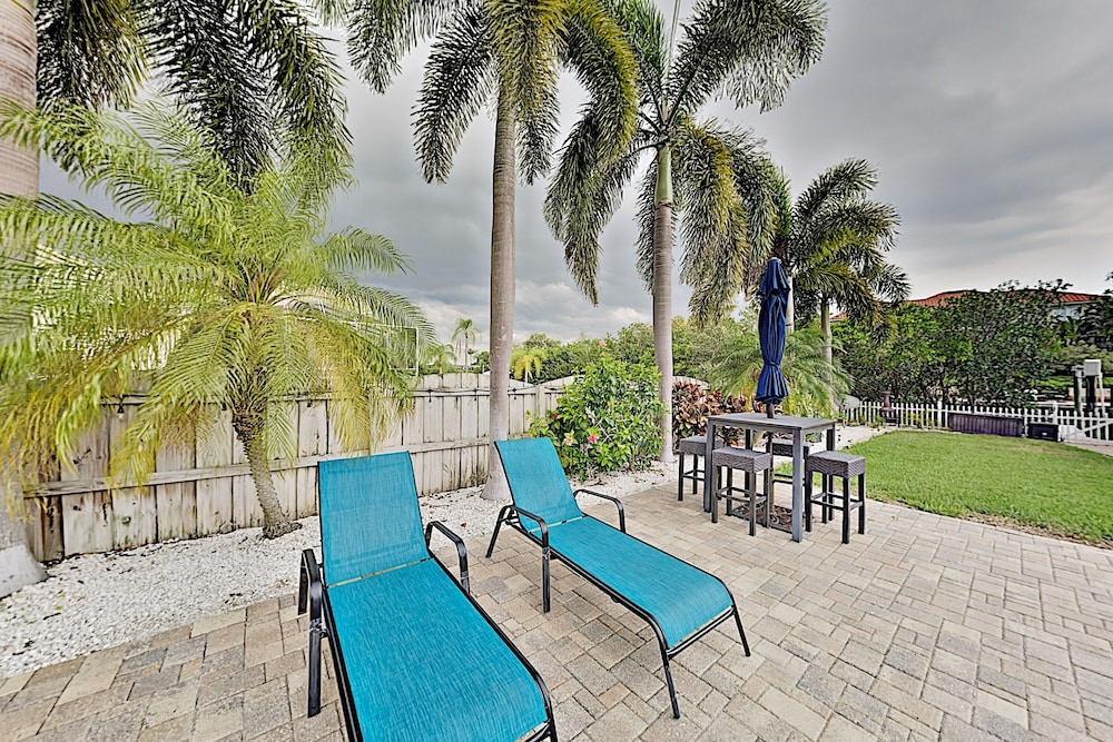 Balcony, Immaculate Canal W/ Pool, Dock & Game Lounge 4 Bedroom Home