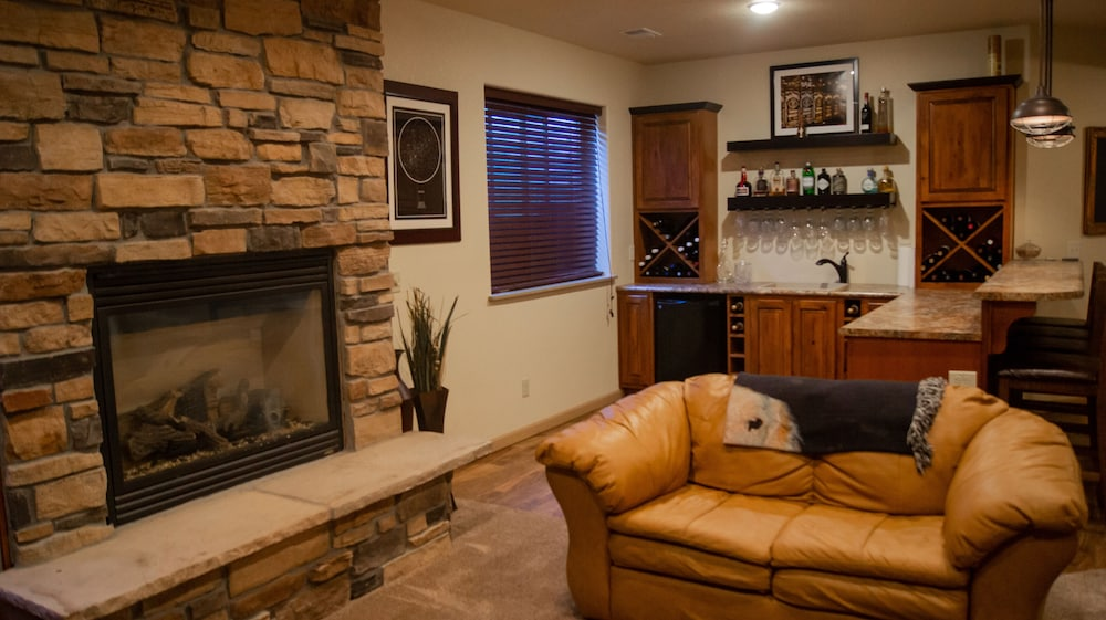 Living Room, Beautiful Casper Home on Golf Course