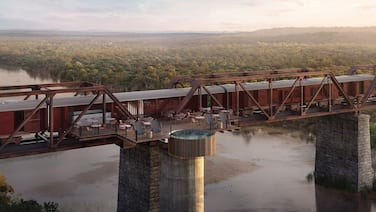 Kruger Shalati - Train on the Bridge