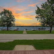 Lakefront home on Chippewa Lake.  180 degree lakeview.