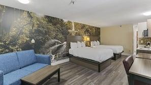 Pillowtop beds, desk, iron/ironing board, free WiFi