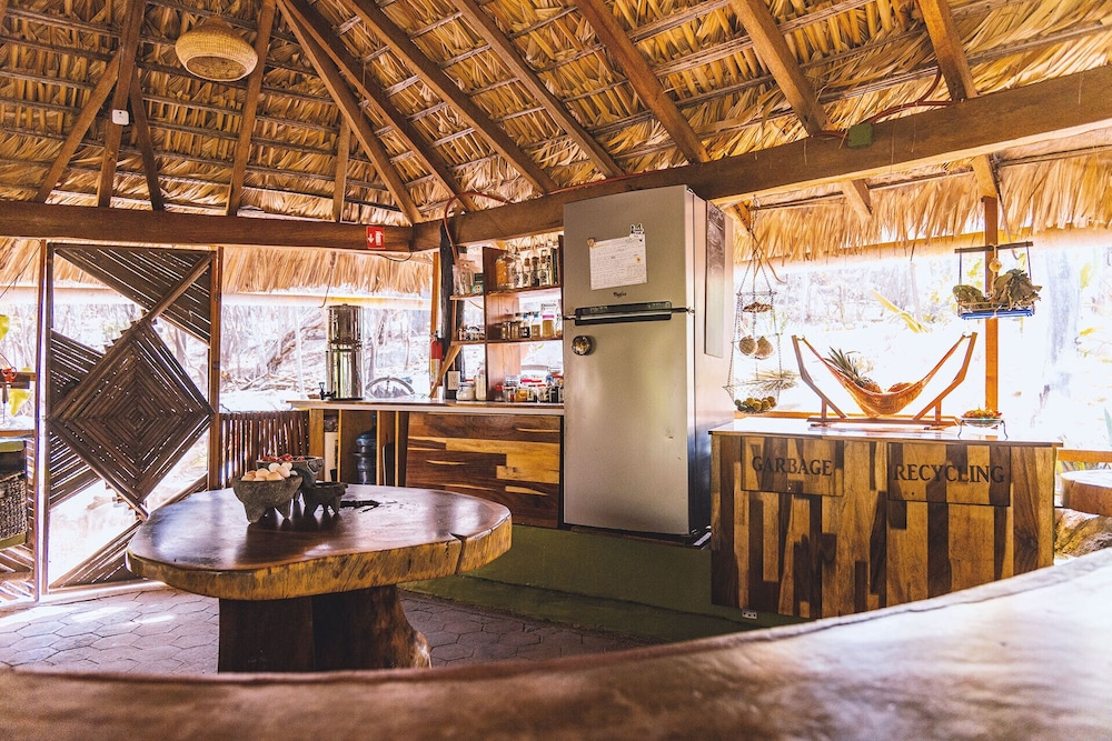 Private Kitchen, Offgrid Superabode Domes In Front of the Ocean With Pool Near Roca Blanca