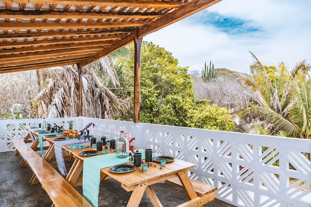 Balcony, Offgrid Superabode Domes In Front of the Ocean With Pool Near Roca Blanca