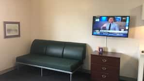 TV de tela plana 42-polegadas com canais a cabo, TV